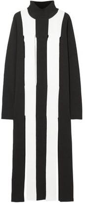 Marques Almeida Marques' Almeida Cutout Striped Merino Wool Maxi Dress