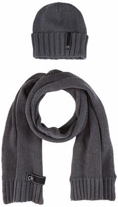 Calvin Klein Men's K50K505185 Scarf Hat & Glove Set