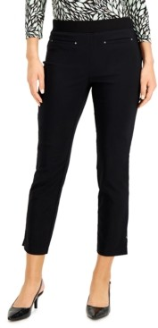 JM Collection Petite Tummy-Control Pull-On Ankle Pants, Created for Macy's