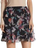 Scripted Floral-Printed Mini Skirt