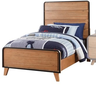 ACME Furniture Acme Carla Twin Bed in Oak with Black Trim