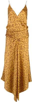 Jonathan Simkhai floral-print ruched-waist dress