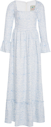 Agua Bendita Curuba Printed Linen Maxi Dress