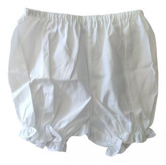 Christian Dior White Cotton Shorts