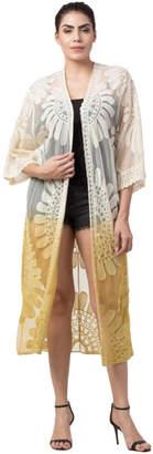 Raj Lotus Raj Duster Lace Embroidered