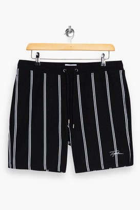 Topman SIGNATURE Black Stripe Shorts