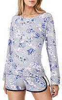 Kensie French Terry Floral Lounge Sweatshirt