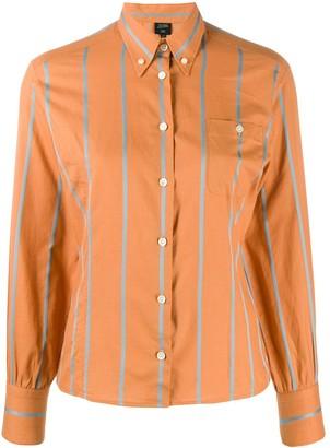 Jean Paul Gaultier Pre-Owned stripe appliqué slim shirt