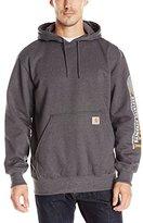Carhartt Men's Rain Defender Paxton Heavyweight Hooded Sleeve Graphic Sweatshirt