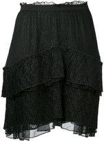 Just Cavalli asymmetric tier skirt - women - Polyamide/Polyester - 38