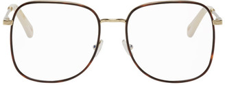 Chloé Gold and Tortoiseshell Metal Square Glasses