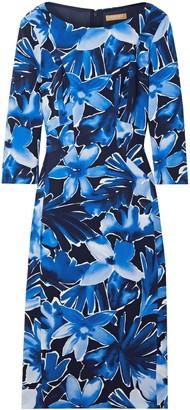 Michael Kors Floral-print Stretch-cady Dress