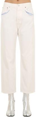 Maison Margiela Cotton Denim Jeans W/ Cut Outs