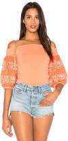 Free People Rock With It Top in Coral. - size L (also in M,S,XS)