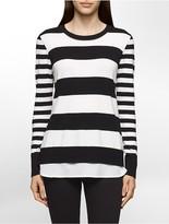 Calvin Klein Striped Crepe Sweater