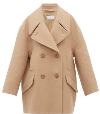 Raey Oversized Wool Pea Coat - Camel