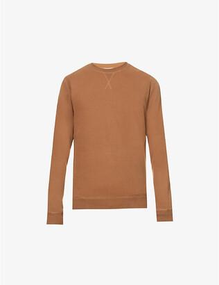 Sunspel Classic-fit crewneck cotton-jersey sweatshirt