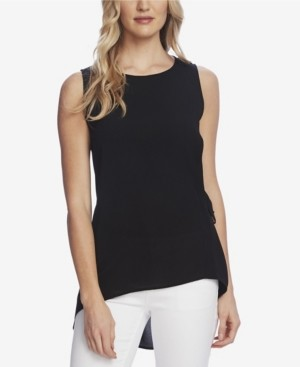Vince Camuto Women's Sleeveless Side Tie High Low Hem Blouse