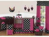 JoJo Designs Sweet Hot Dot Collection 11-Piece Crib Bedding Set