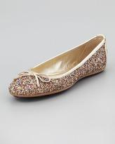 Jimmy Choo Walsh Glitter Ballerina Flat
