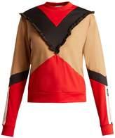 MSGM Colour-block jersey sweatshirt