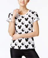 Mighty Fine Juniors' Ying-Yang Mickey Graphic T-Shirt