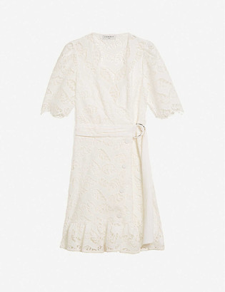 Sandro Zany broderie Anglaise woven mini dress