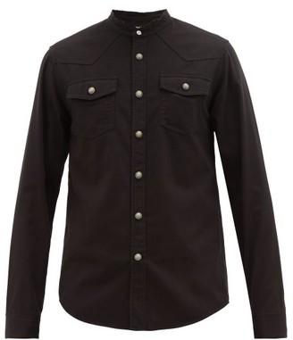 Balmain Logo-embossed Cotton Shirt - Black