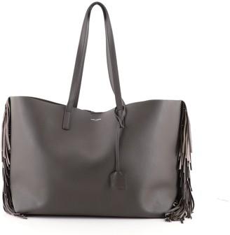 Saint Laurent Fringe Shopper Tote Leather Large