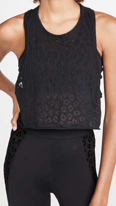 Good American Active Burnout Crop Racerback Tank