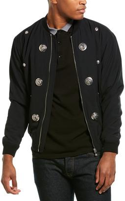 Versus By Versace Versus Versace Embellished Wool-Blend Jacket