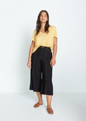 MANGO 100% Linen T-Shirt
