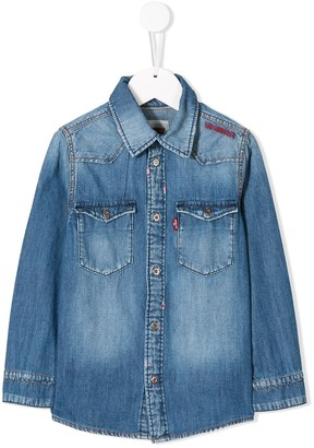 Levi's Embroidered Logo Denim Shirt