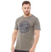 Weird Fish Mens WF Surf Branded T-Shirt Steel Grey Marl