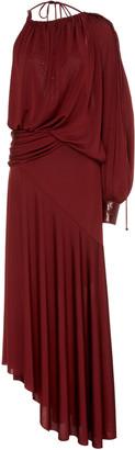 Sies Marjan Gia Asymmetric Stretch-Jersey Maxi Dress