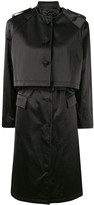 Shanghai Tang 4 in 1 Poly Satin lightweight trench coat