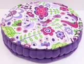 Bacati Botanical Purple Floor Pillow