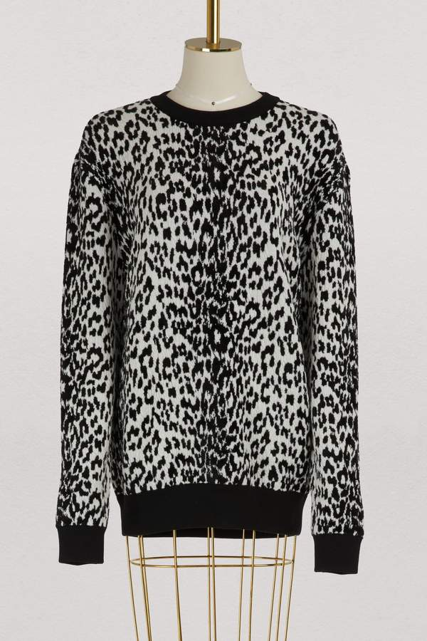 Givenchy Leopard oversized pullover