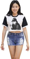 Me Women's Lana Del Rey Smoking Crop T-shirt