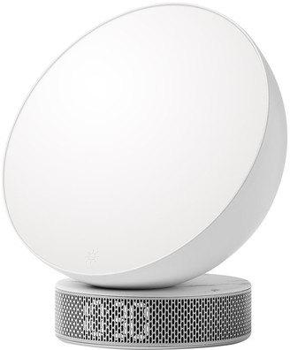 Lexon Miami Sunrise Light Therapy Alarm Clock - White Marble