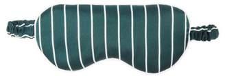 Derek Rose Brindisi Reversible Striped Silk-satin Eye Mask - Womens - Green Stripe