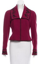 John Galliano Wool Embroidered Jacket