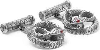 Montblanc Snake Engraved Sterling Silver Cufflinks