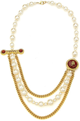 Ben-Amun Layered Pearly Chain Statement Necklace
