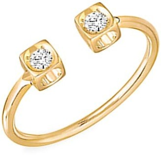 Dinh Van Le Cube 18K Yellow Gold & Diamond Open Ring