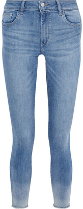 DL1961 Florence Cropped Faded Mid-rise Skinny Jeans