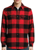 ST. JOHN'S BAY St. John's Bay Long-Sleeve Brawny Flannel Shirt