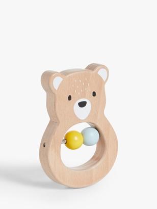 John Lewis & Partners Bear Ring Rattle Toy