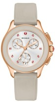 Michele Women's Cape Chronograph Silicone Strap Watch, 34Mm