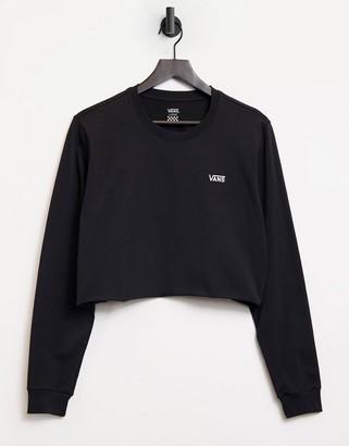 Vans Junior cropped long sleeve t-shirt in black